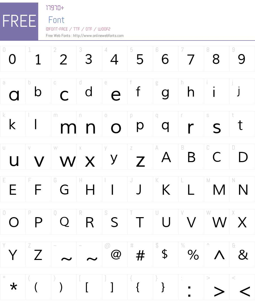 Muli Font Screenshots