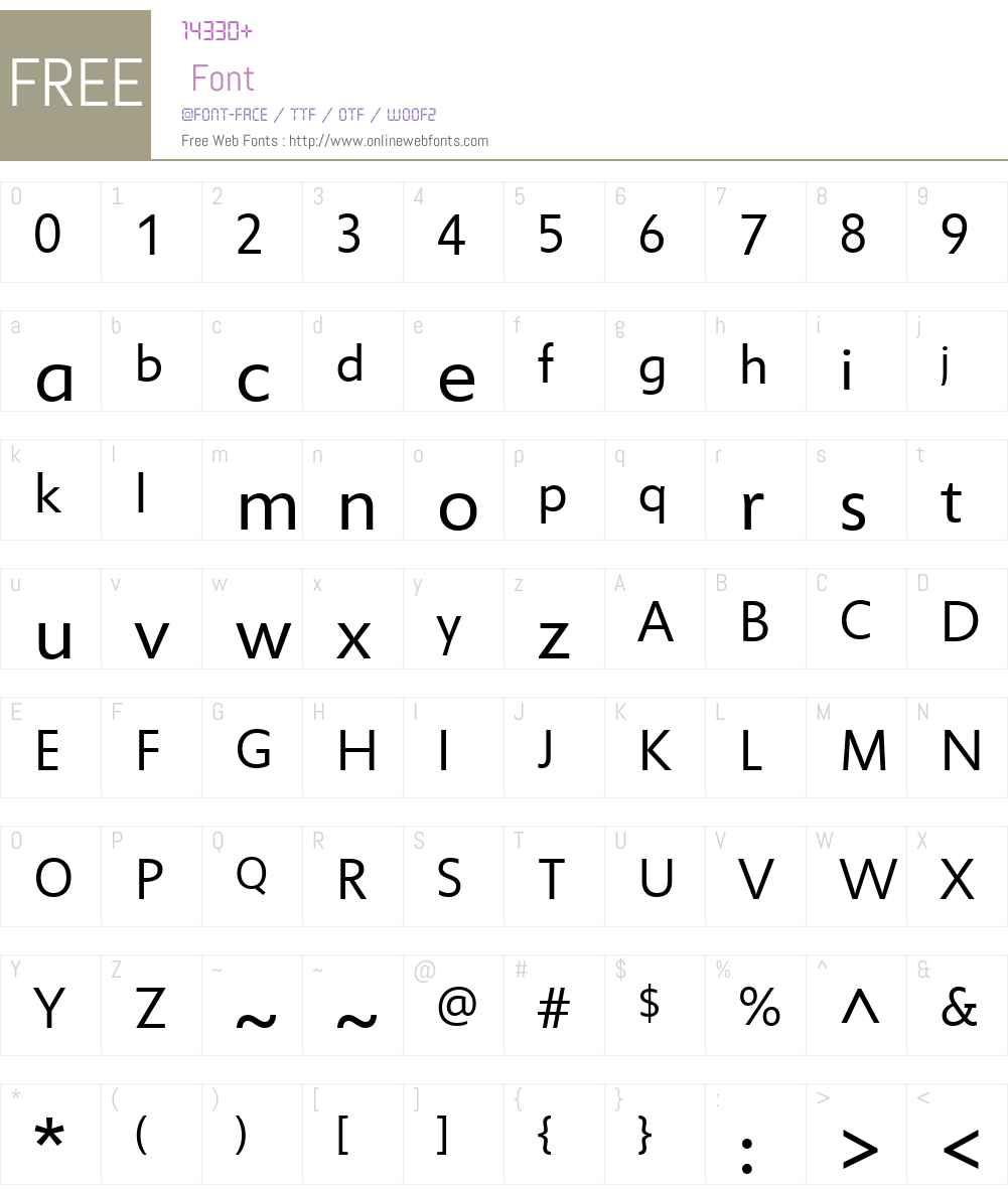 Miramonte Font Screenshots