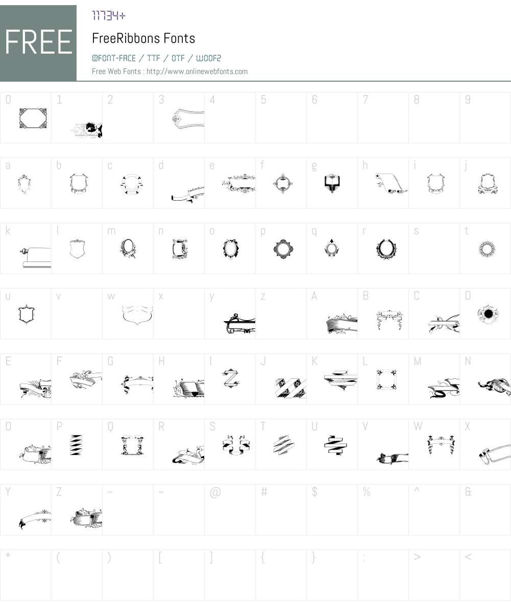 FreeRibbons Font Screenshots