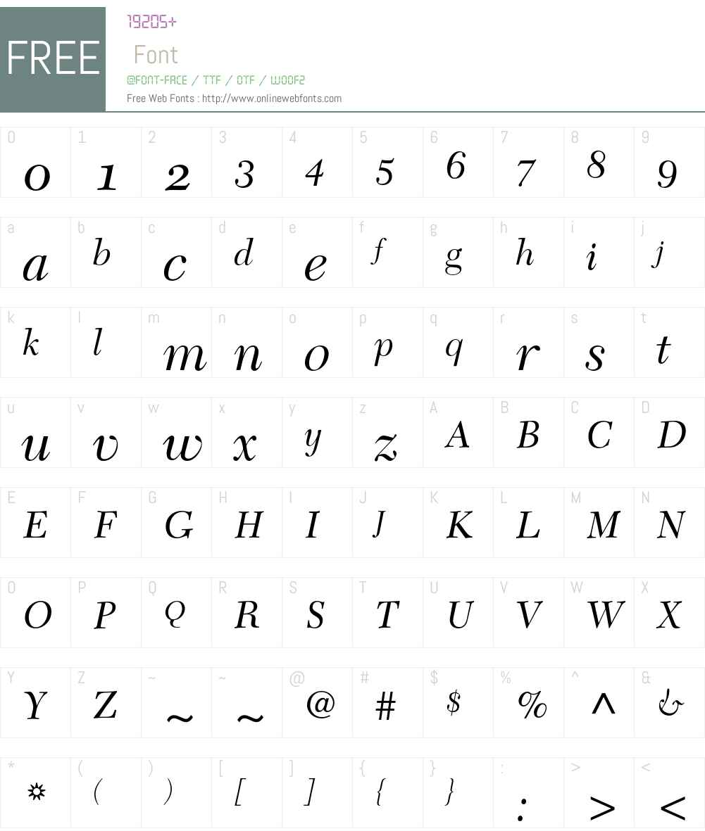 New Caledonia Font Screenshots
