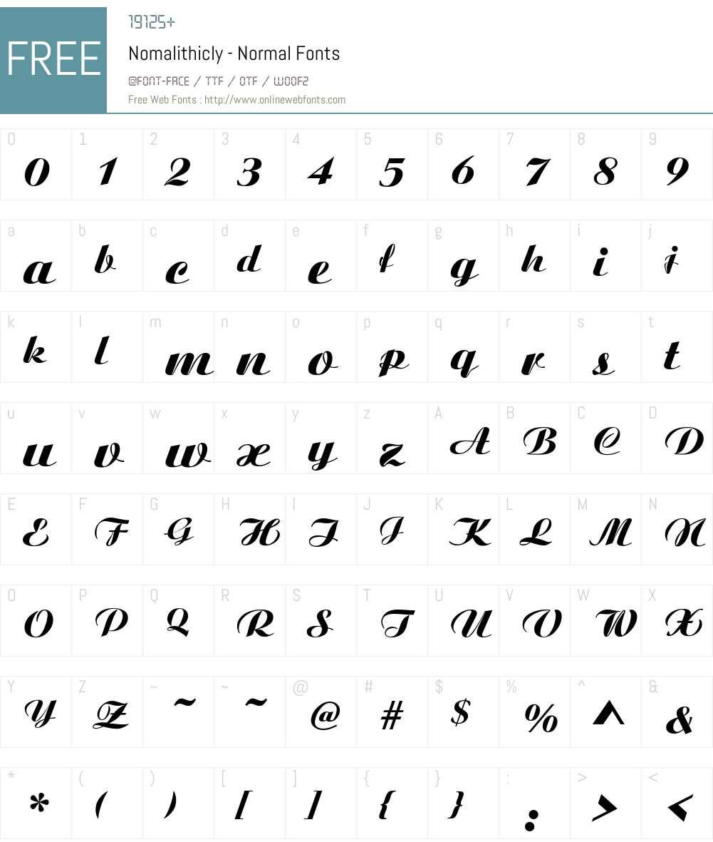 Nomalithicly - Normal Font Screenshots