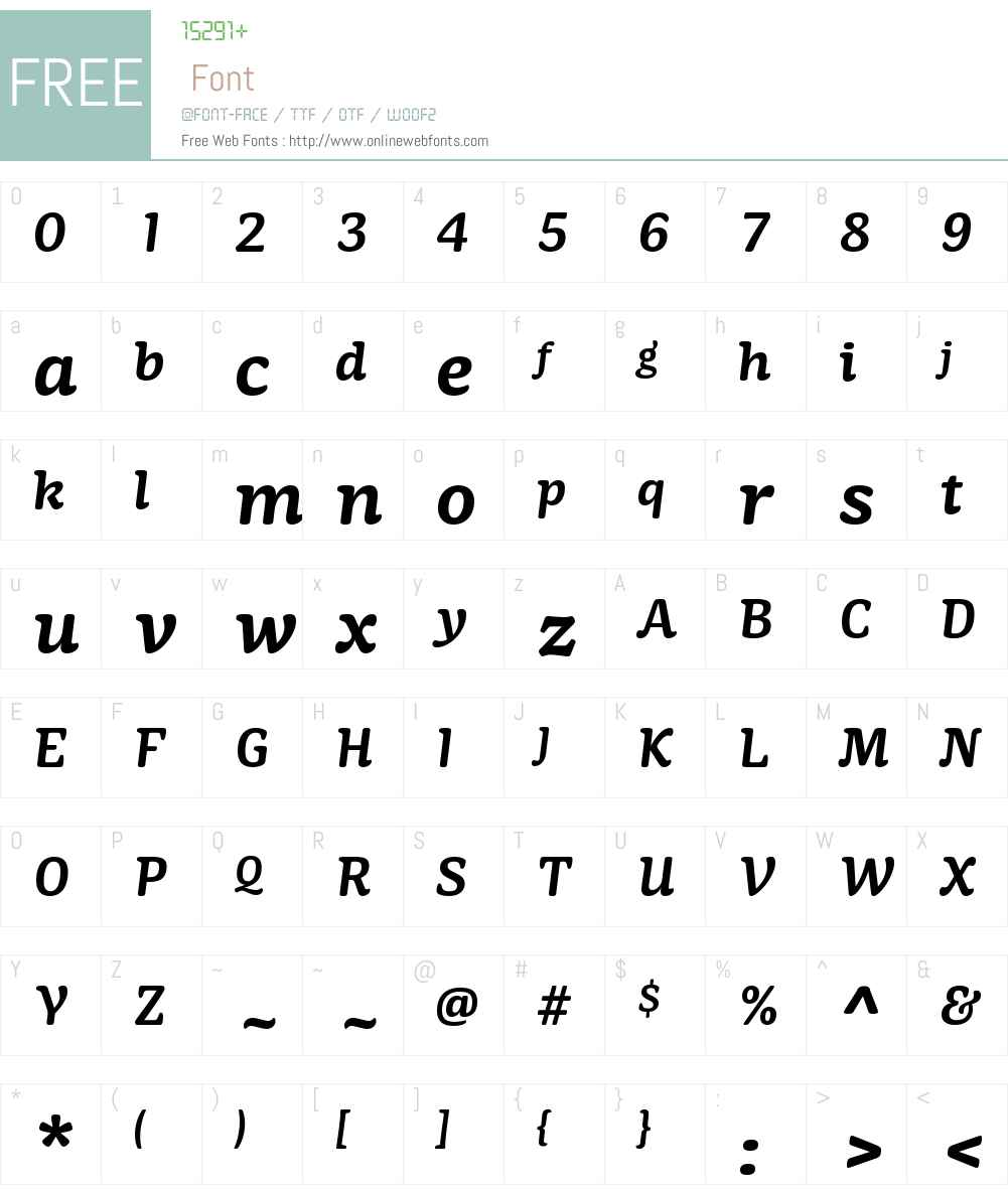 MayonezW01-SemiBoldItalic Font Screenshots