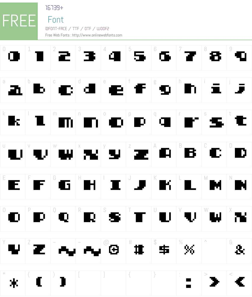 Solomon's Key True Type Font Screenshots