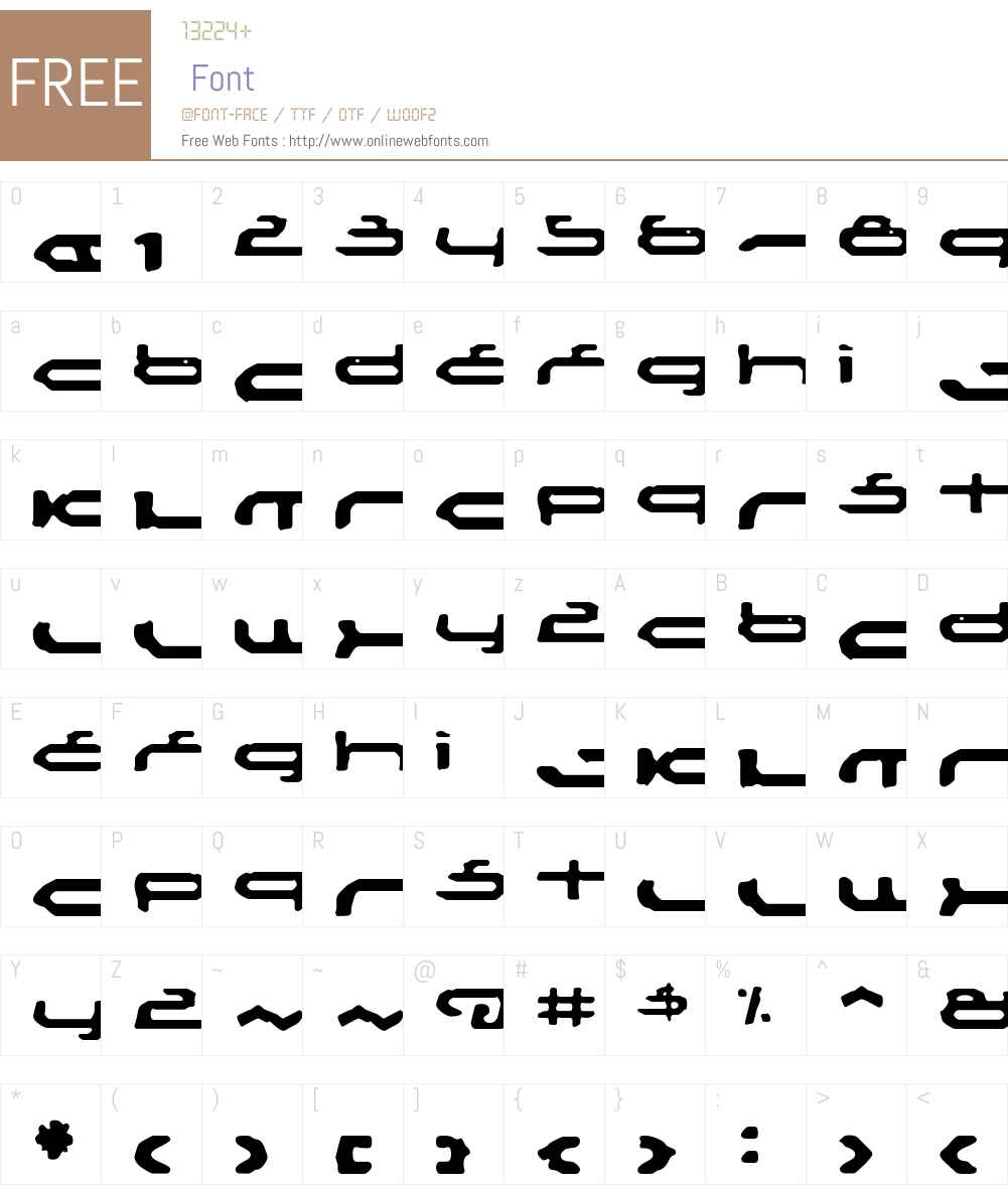 Mechoba Font Screenshots