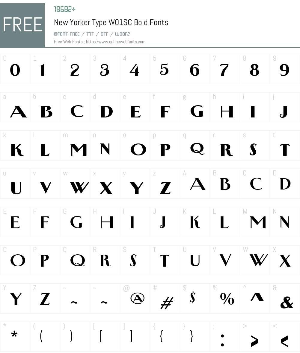 NewYorkerTypeW01SC-Bold Font Screenshots