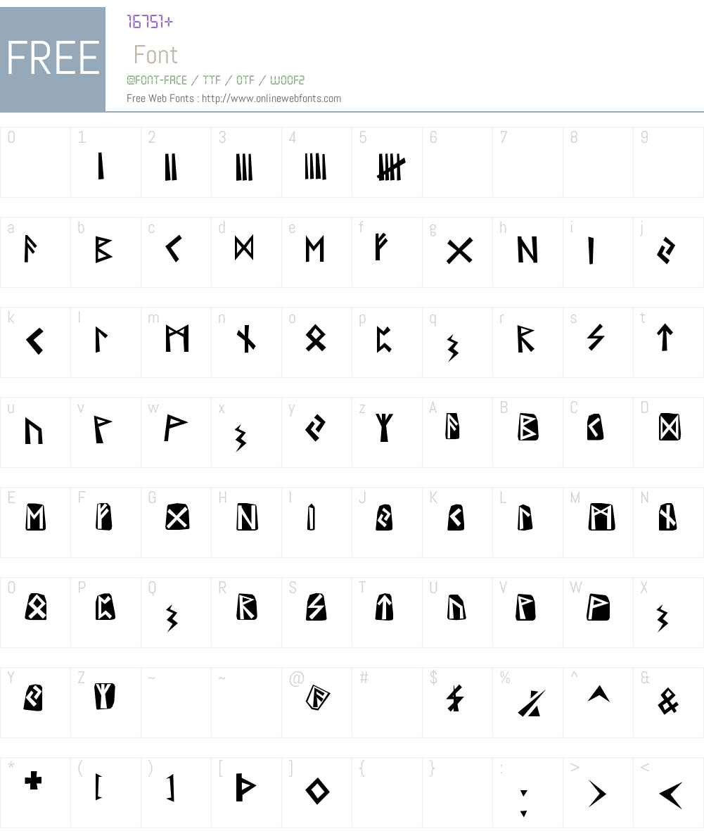 Runen Font Screenshots