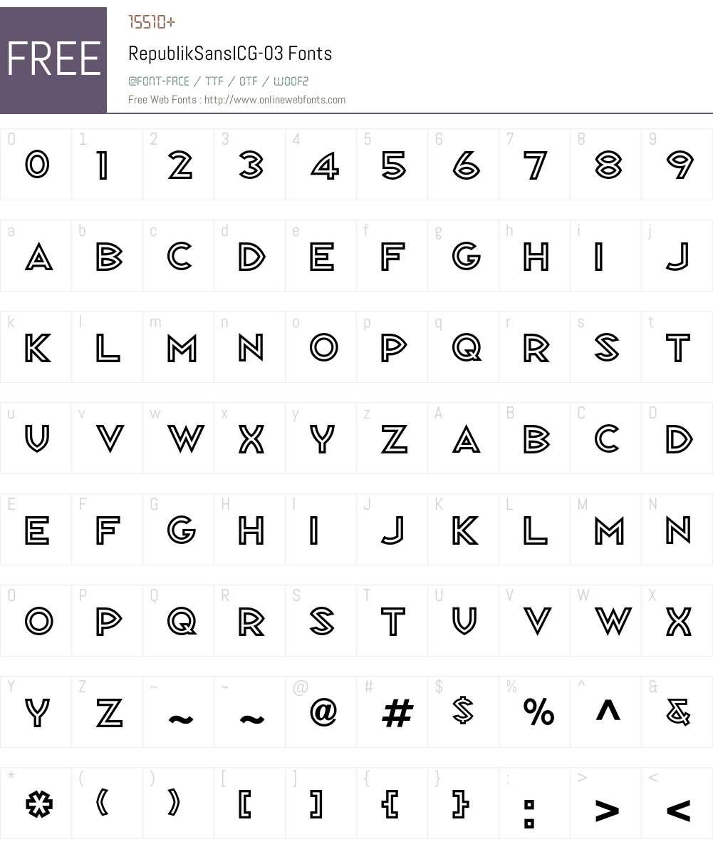 RepublikSansICG Font Screenshots
