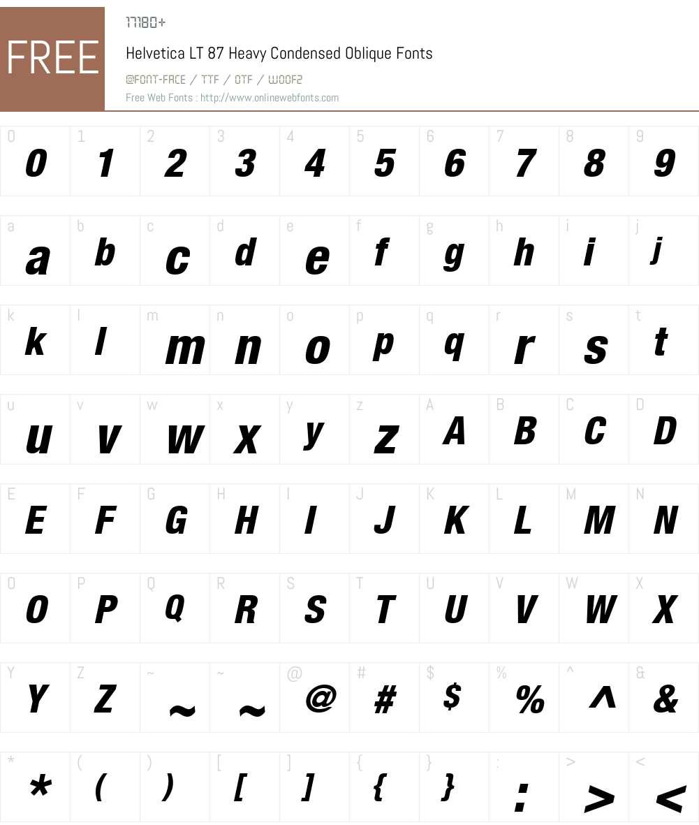 HelveticaNeue LT 67 MdCn Font Screenshots