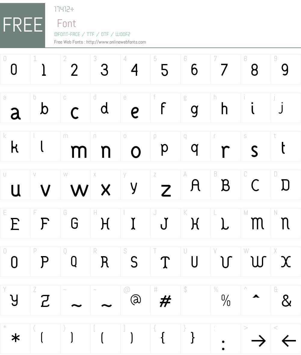 DANOISE Font Screenshots