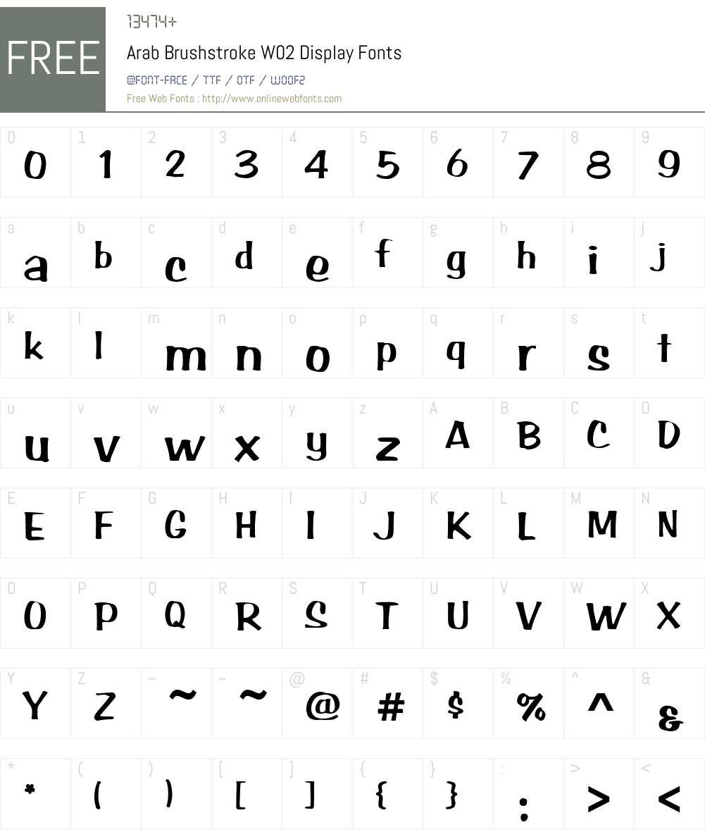 Arab Brushstroke Font Screenshots