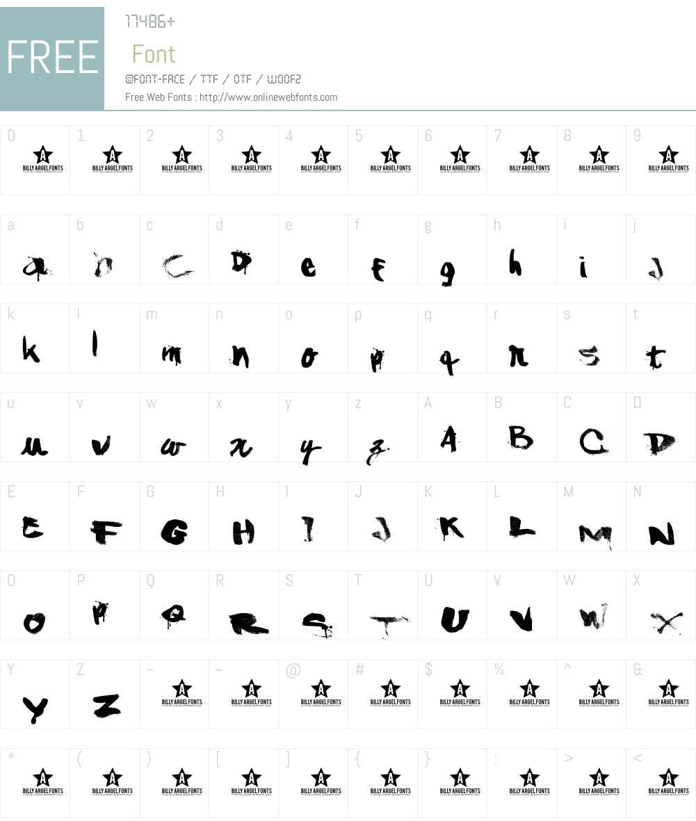 ShAnKed Font Screenshots
