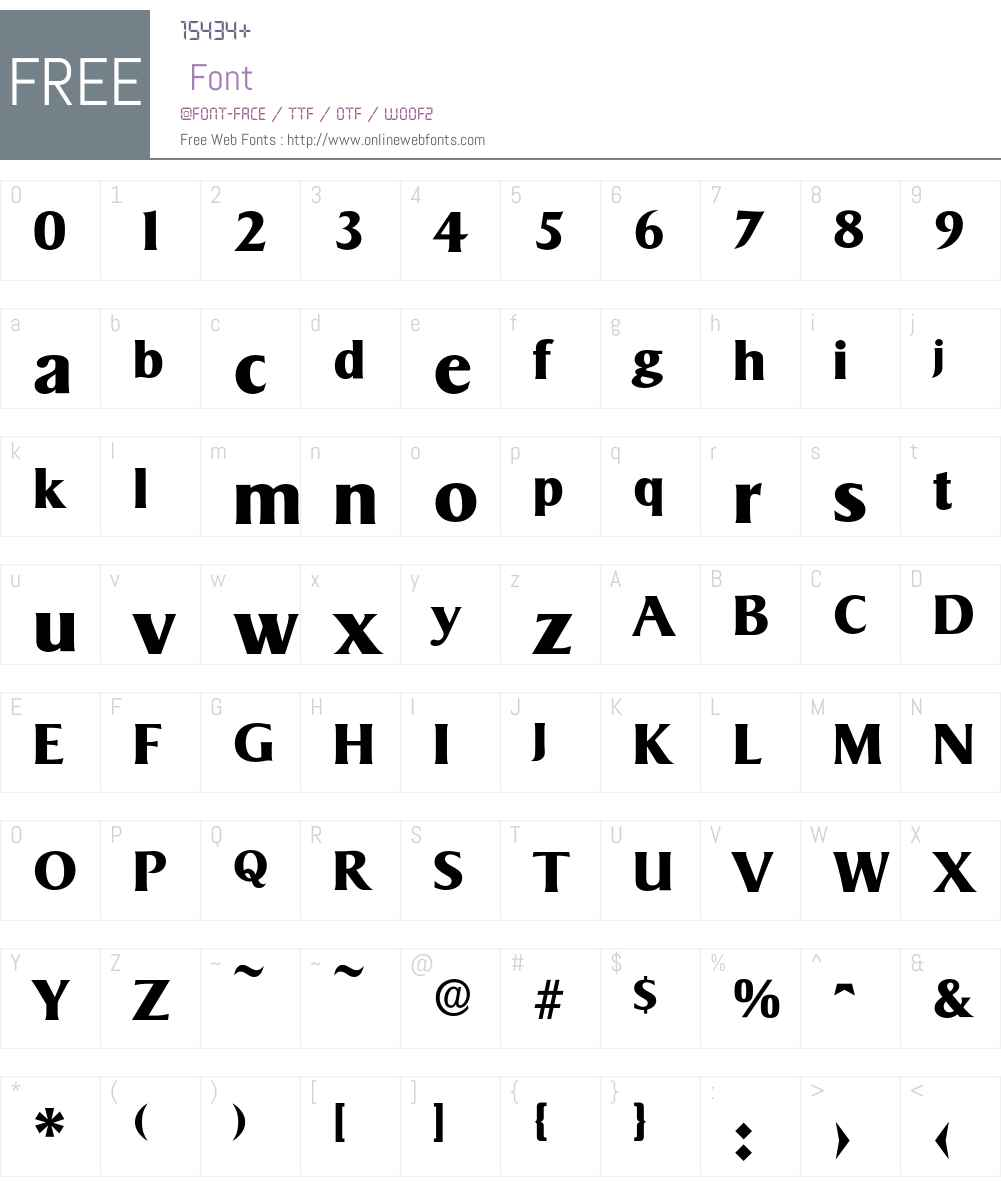 Sigvar-Bold Font Screenshots