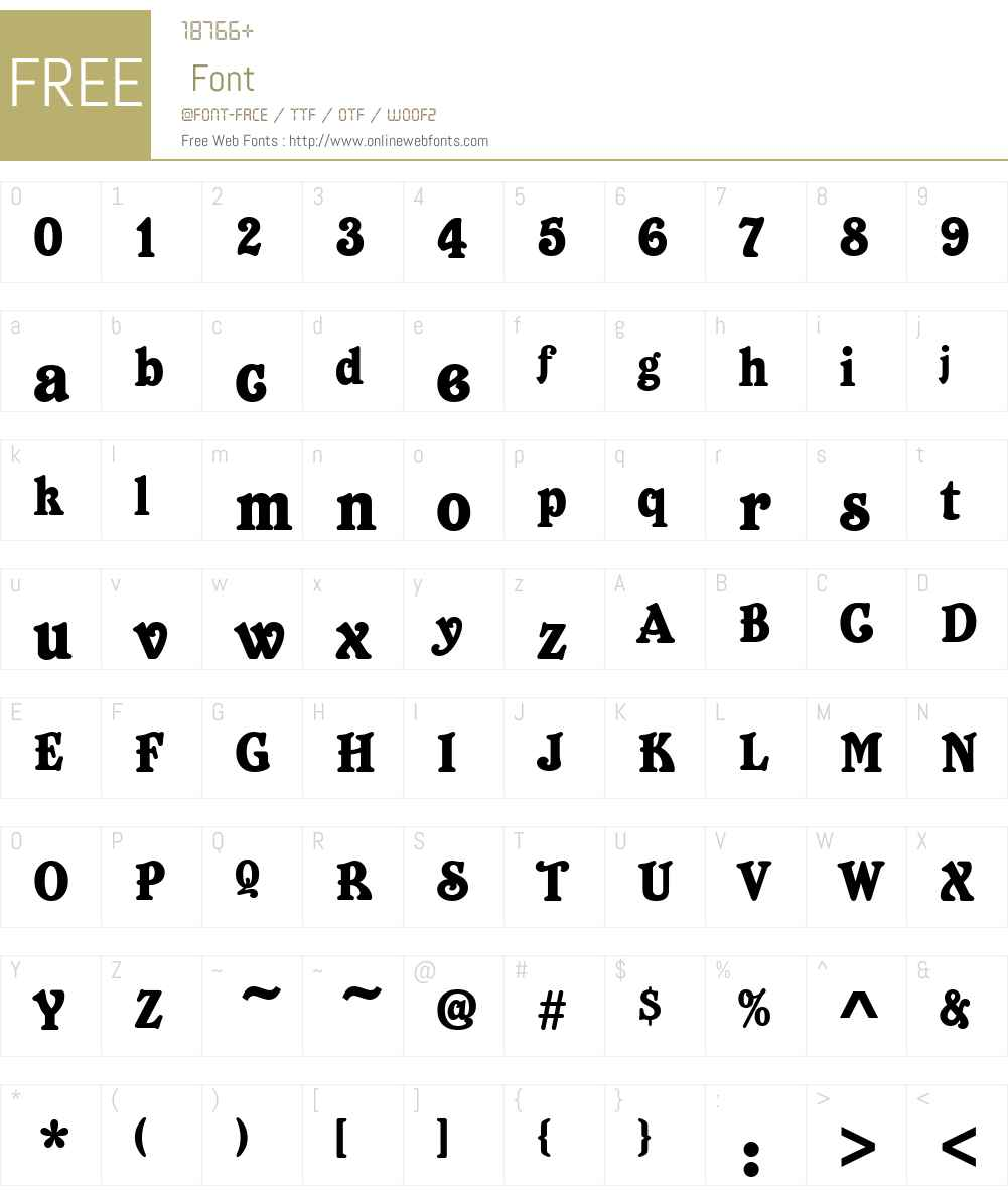 Bellboy Font Screenshots