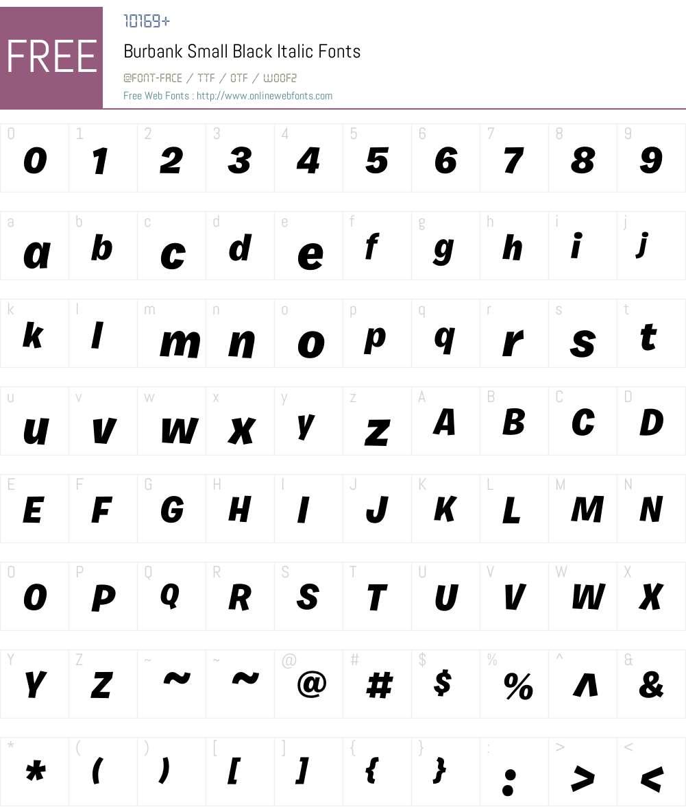 Burbank Small Font Screenshots