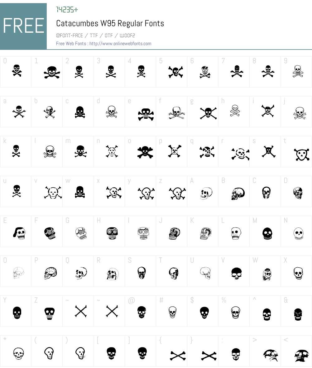 CatacumbesW95-Regular Font Screenshots