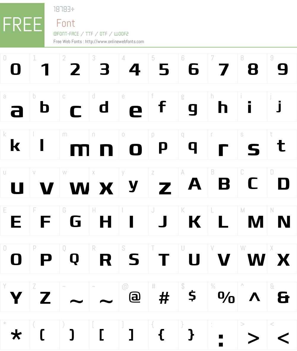 Francker Font Screenshots
