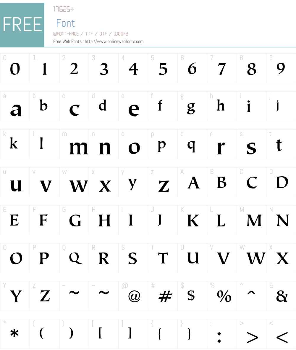 Tiepolo Font Screenshots