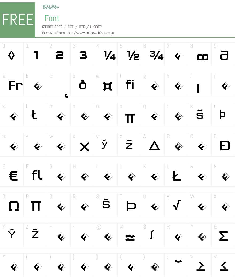 QTypeSquare-BookExpert Font Screenshots