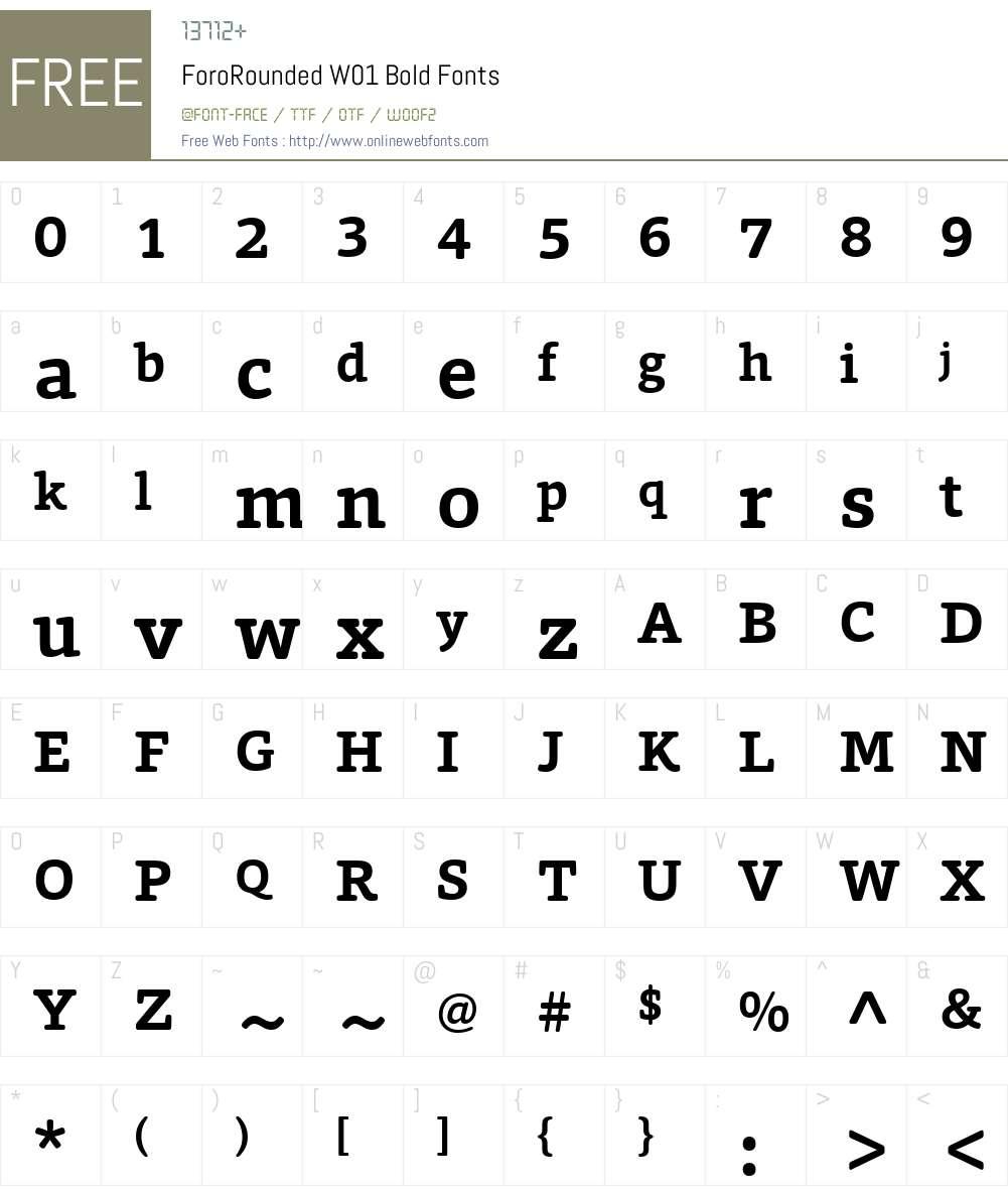 ForoRoundedW01-Bold Font Screenshots