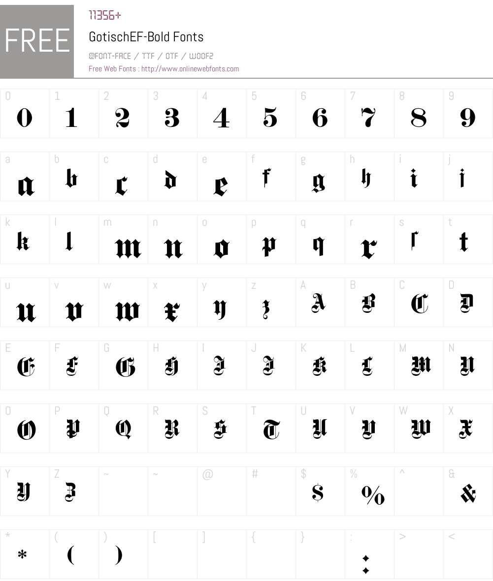 GotischEF Font Screenshots