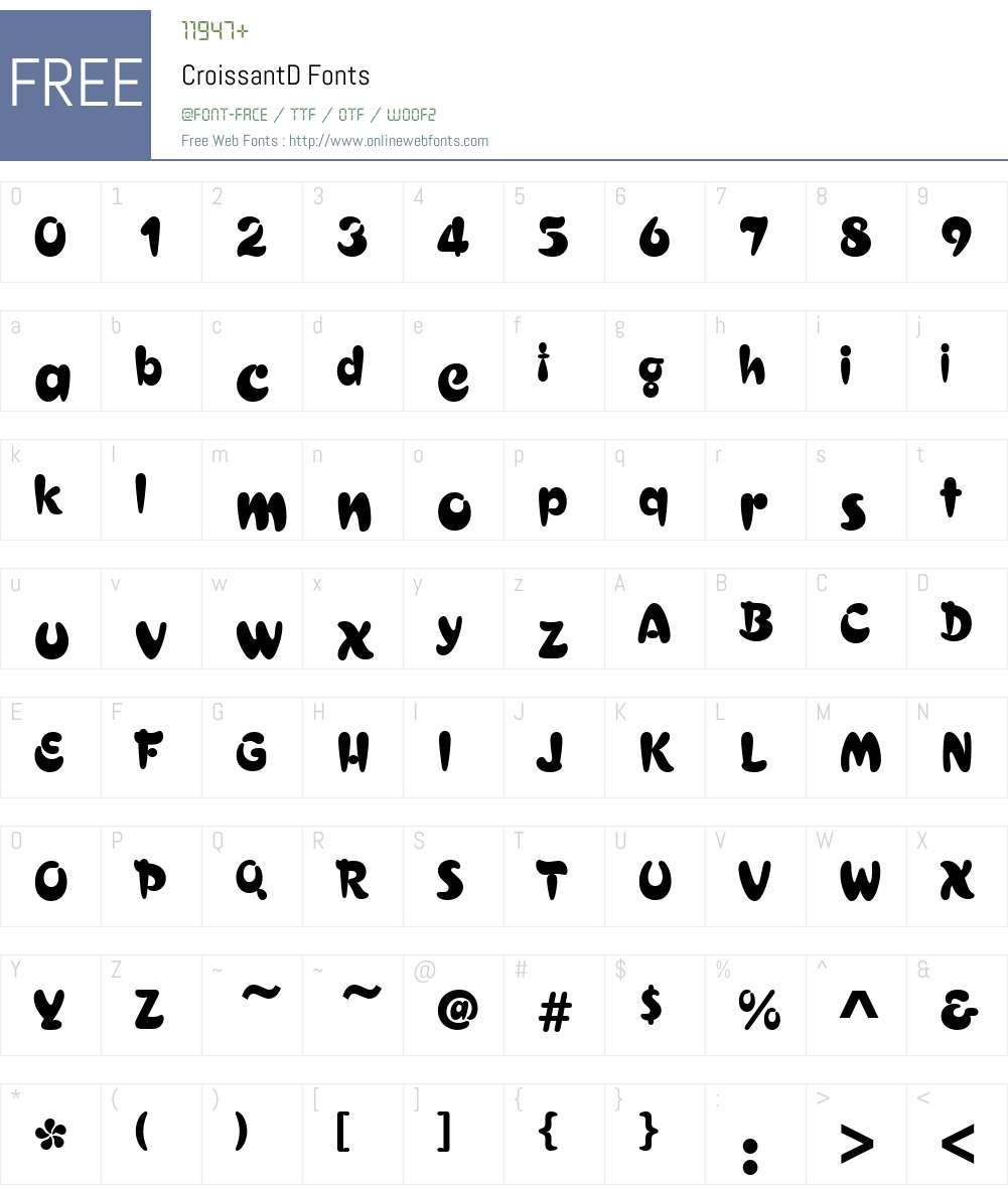 CroissantD Font Screenshots