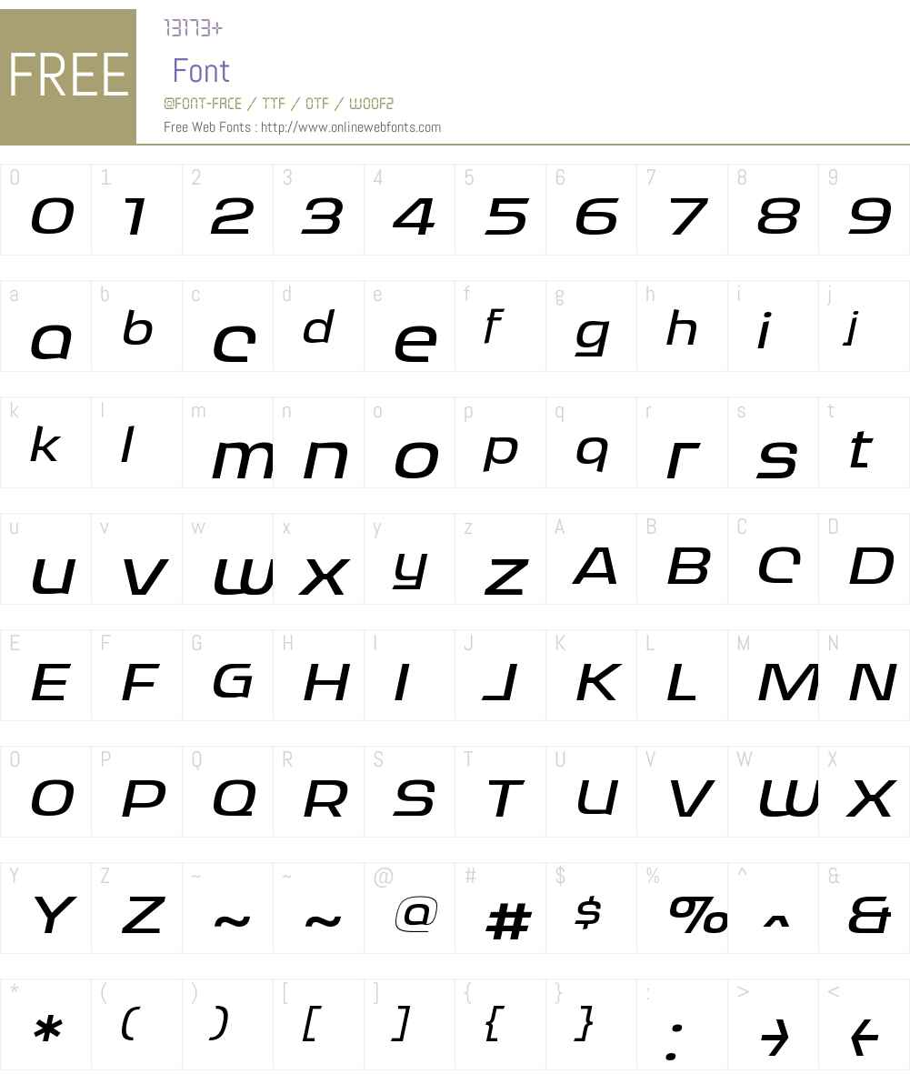 RitafureyW00-MediumItalic Font Screenshots