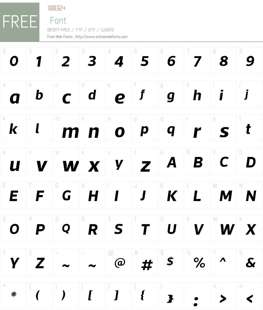 ActoW00-BoldItalic Font Screenshots