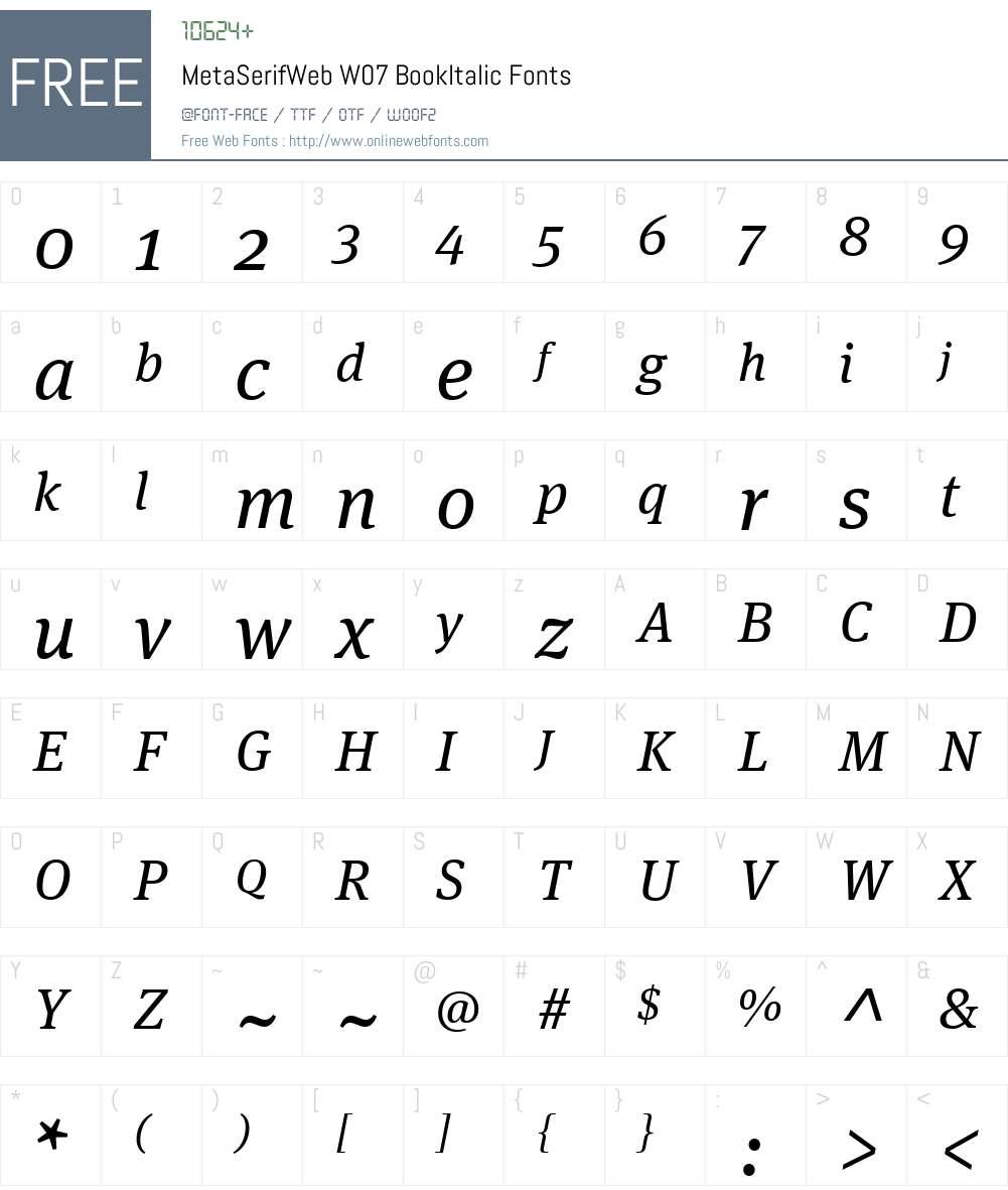 FF Meta Serif Font Screenshots