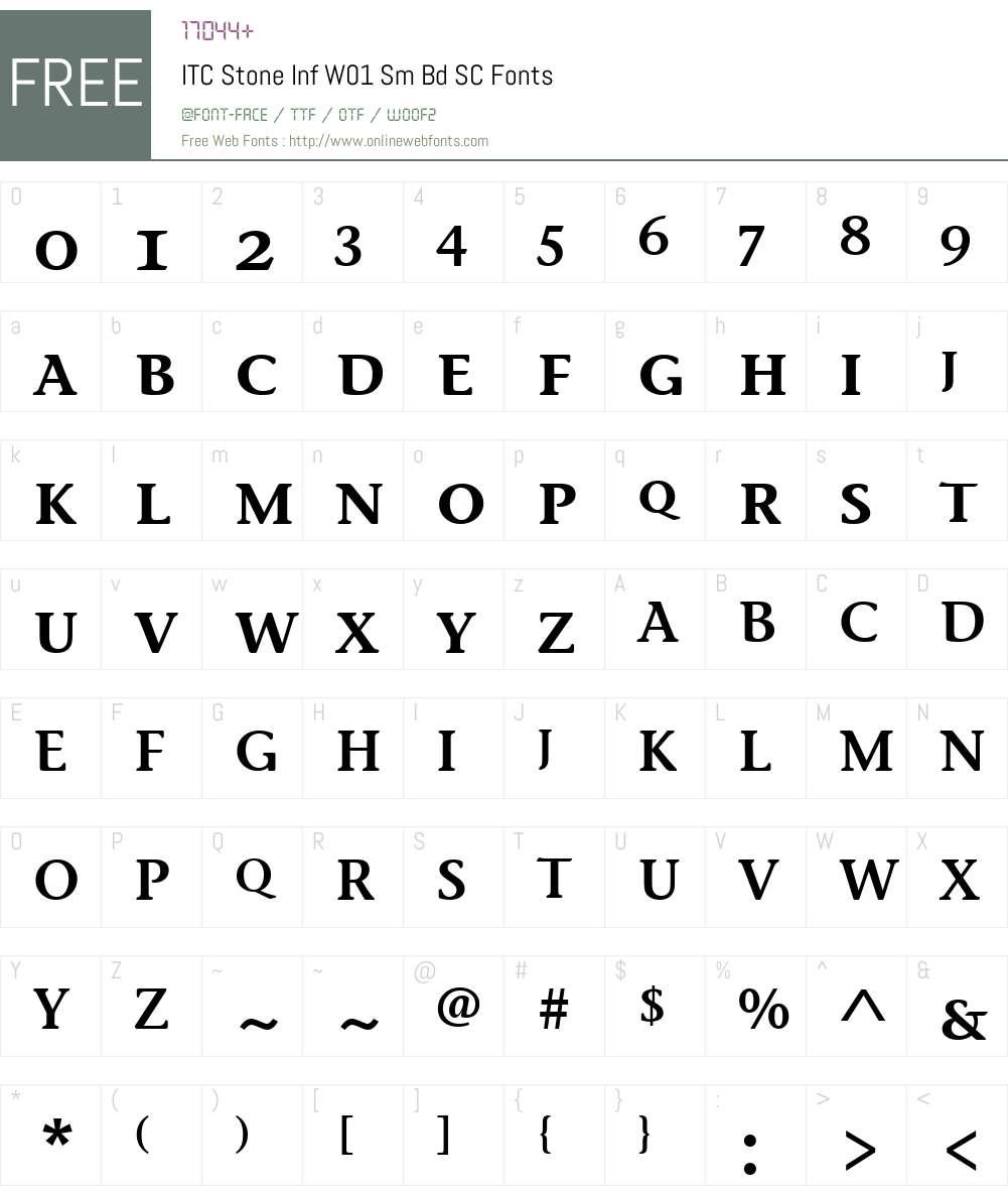 ITCStoneInfW01-SmBdSC Font Screenshots