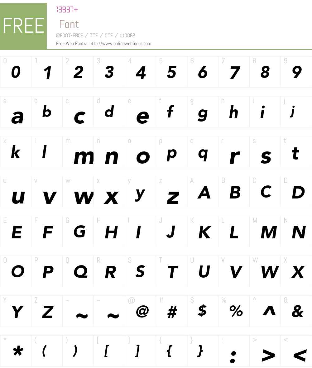 AvenirLTW01-95BlackOblique Font Screenshots