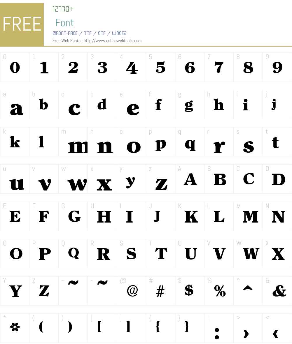 ClearfaceSerial-Heavy Font Screenshots