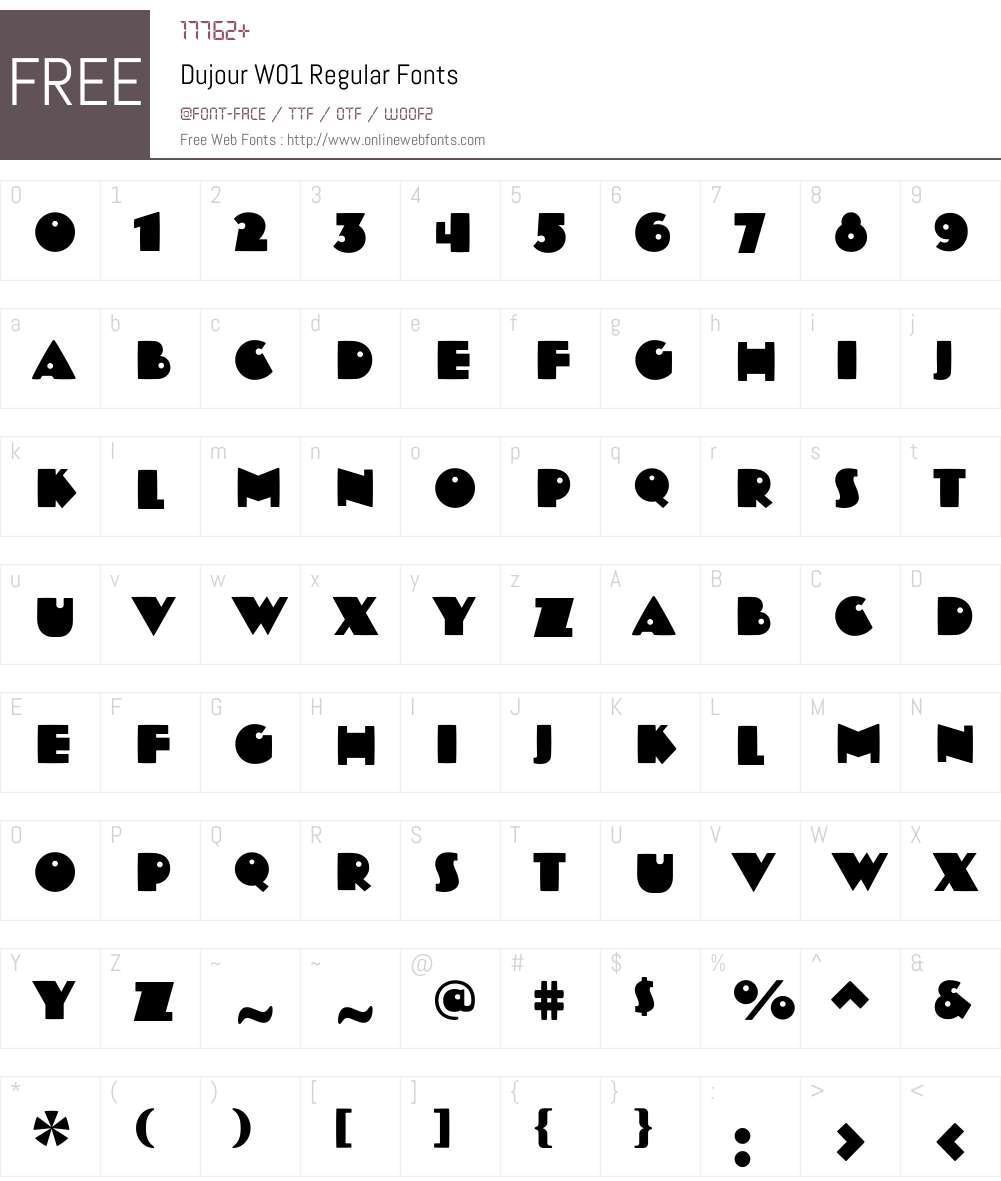 DujourW01-Regular Font Screenshots