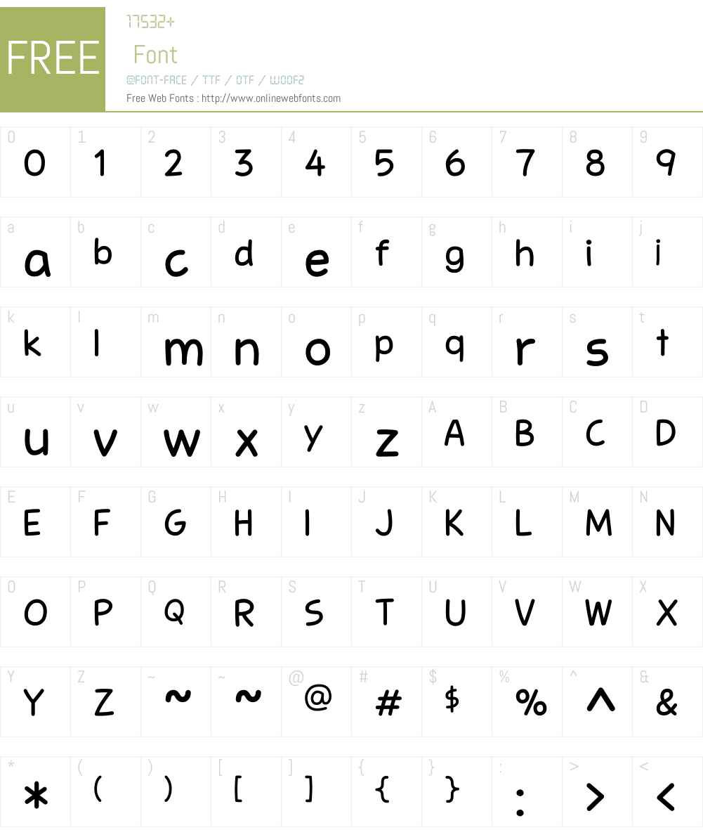 Stanberry Font Screenshots