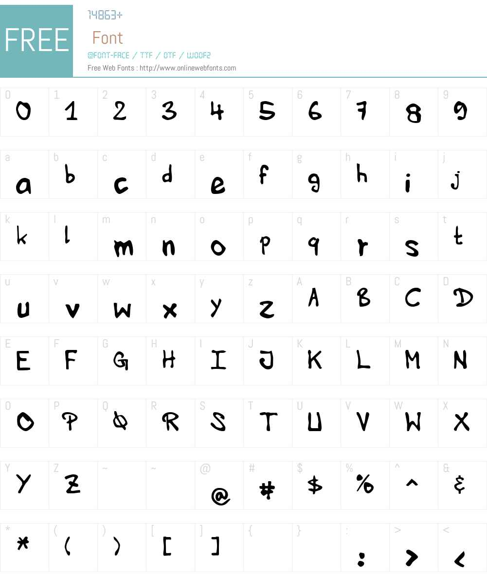 HVD Edding 780 Font Screenshots