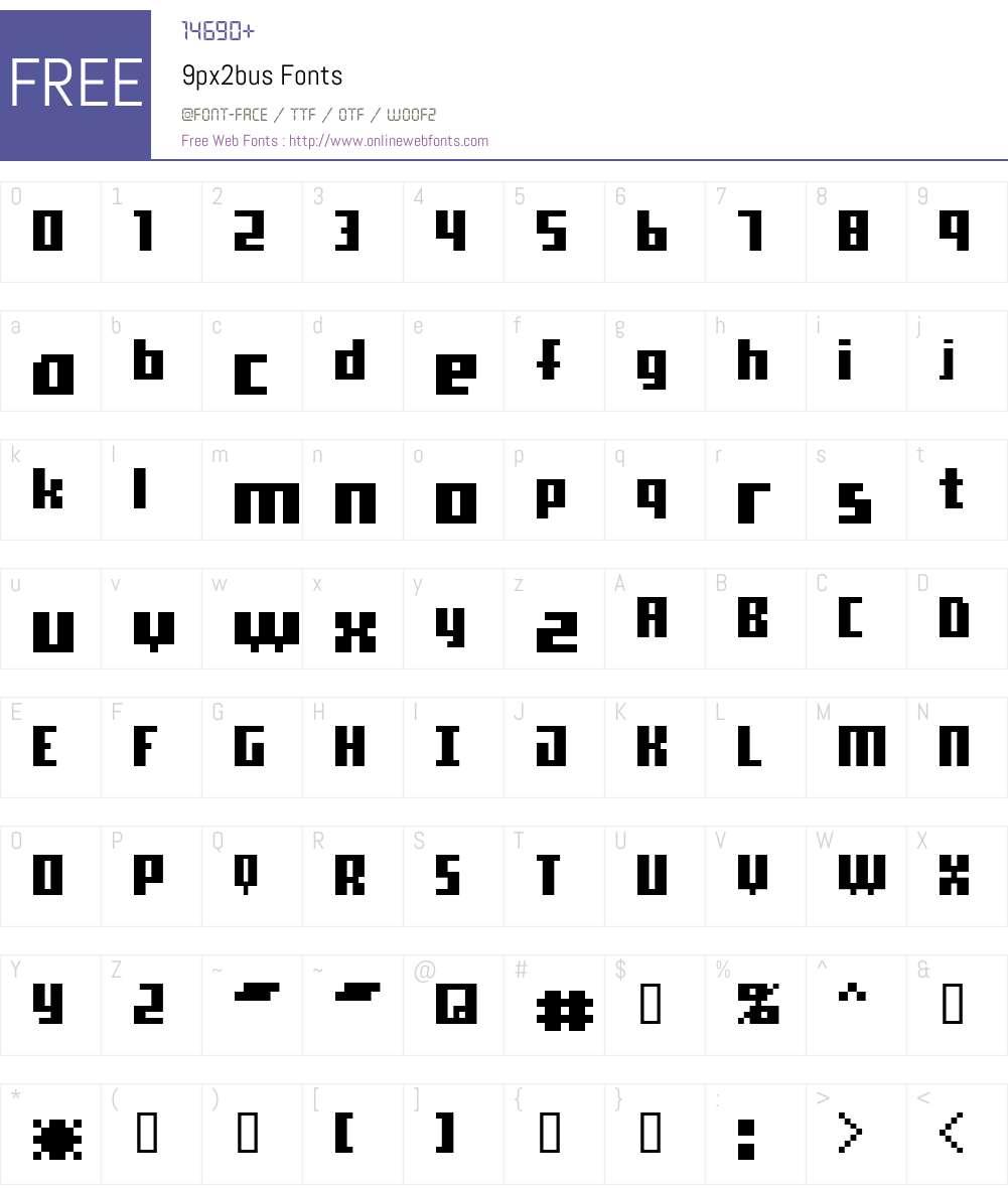 9px2bus Font Screenshots