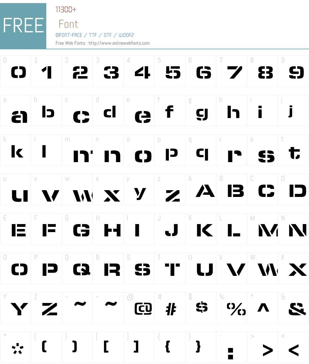 MicroStencil-Black Font Screenshots