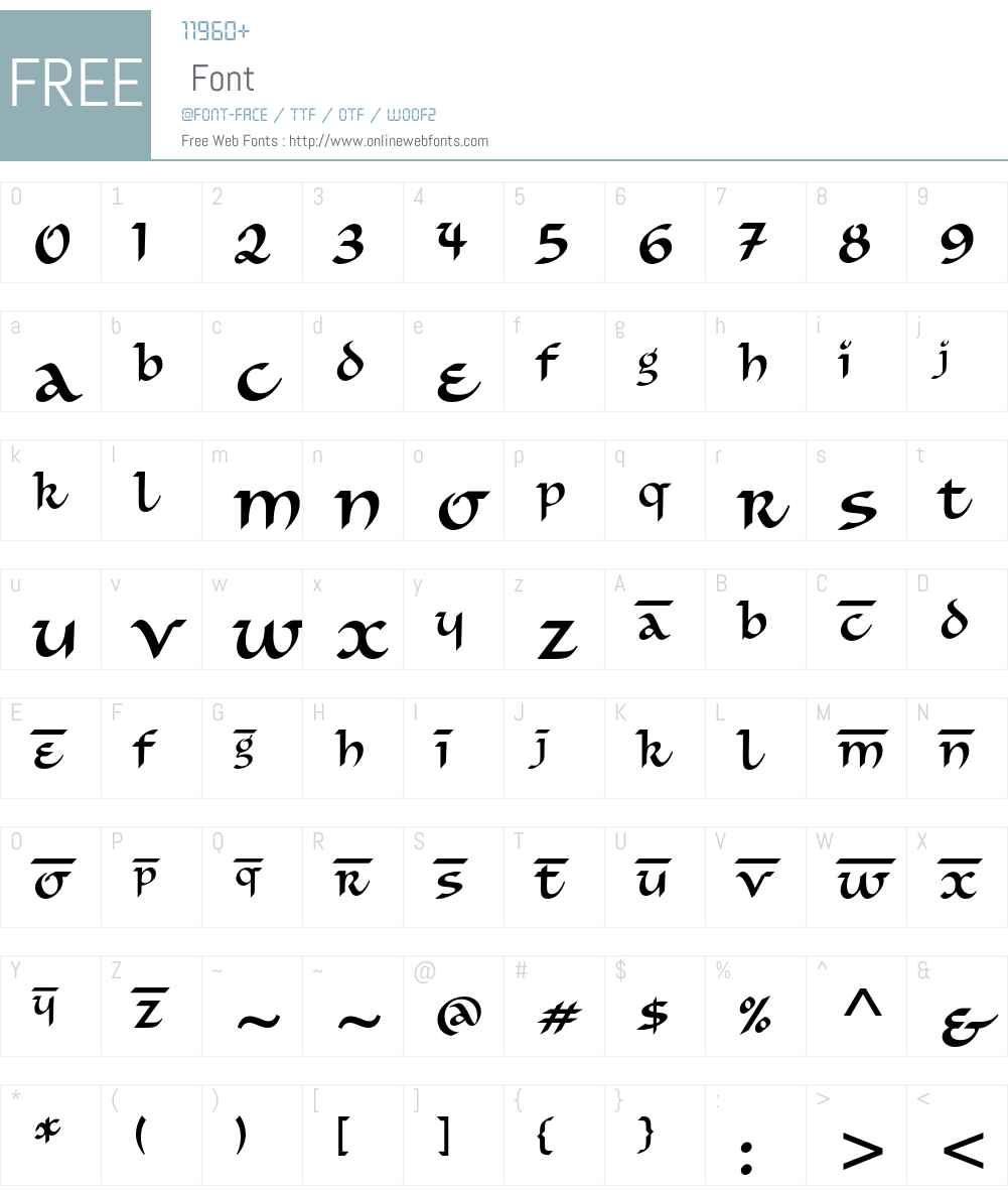 Simran ITC Std Font Screenshots