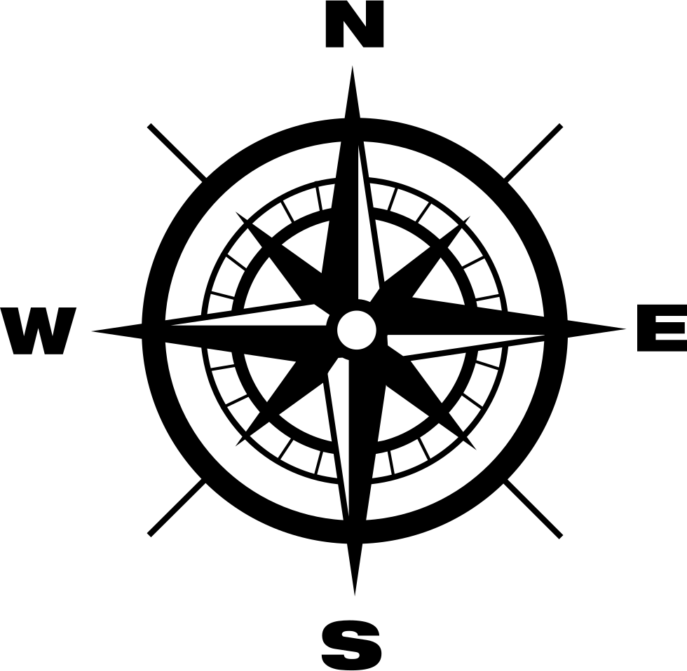 Compass With Earth Cardinal Points Directions