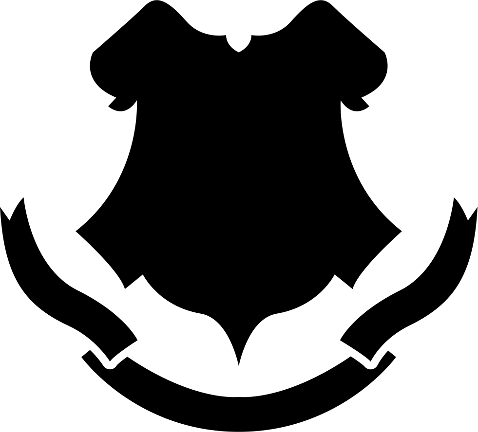Shield Black Shape With A Banner
