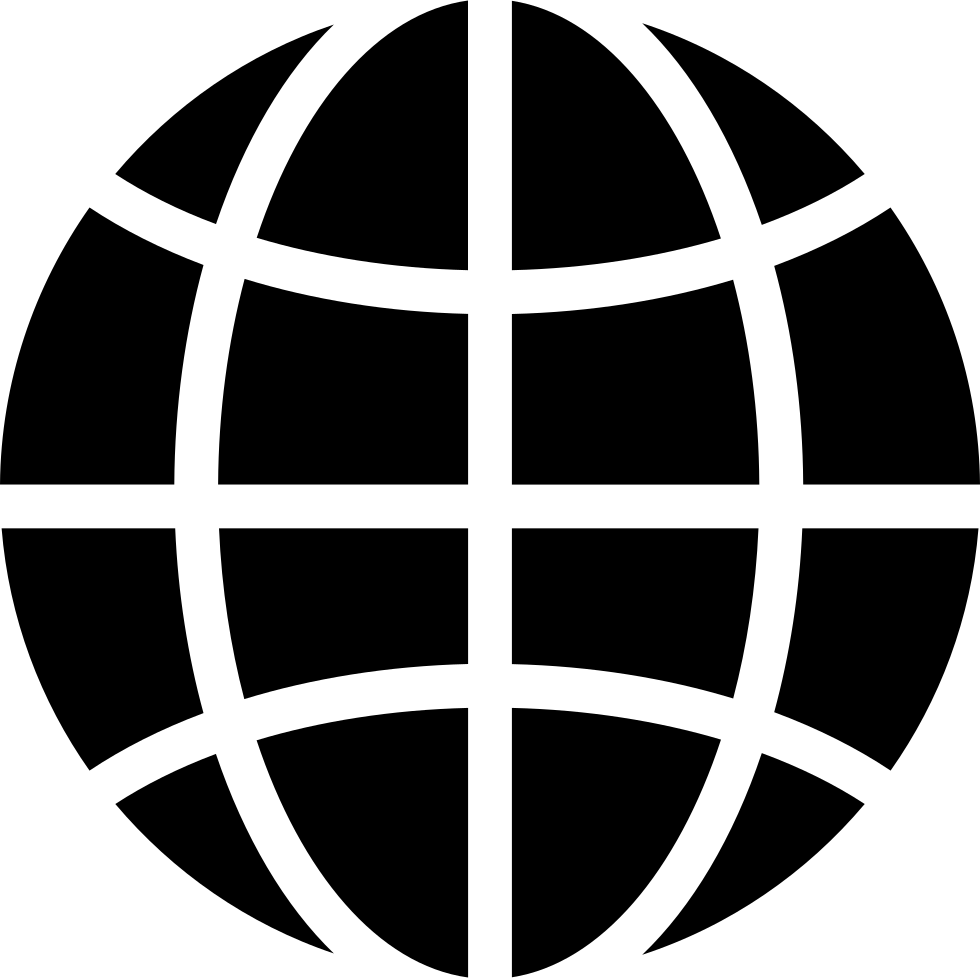 Black Earth Circle With Thin Grid