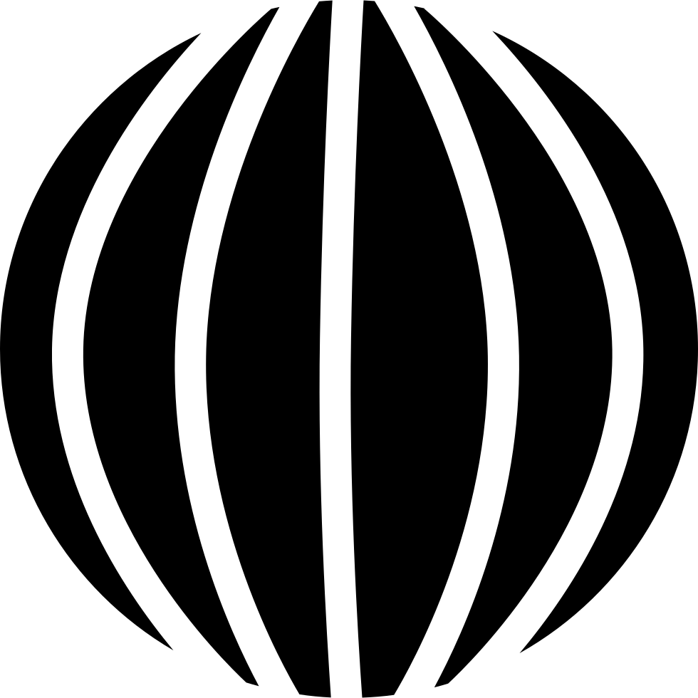 Spherical Shape With Vertical Lines