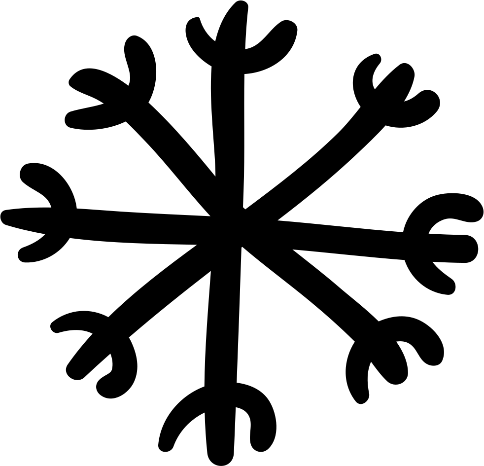 Snowflake Hand Drawn Shape