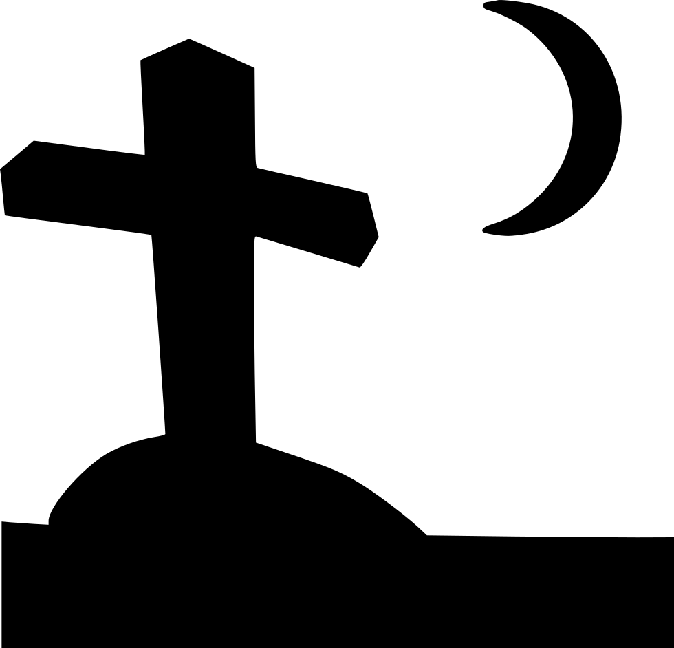 Dead Grave Cross Moon Halloween