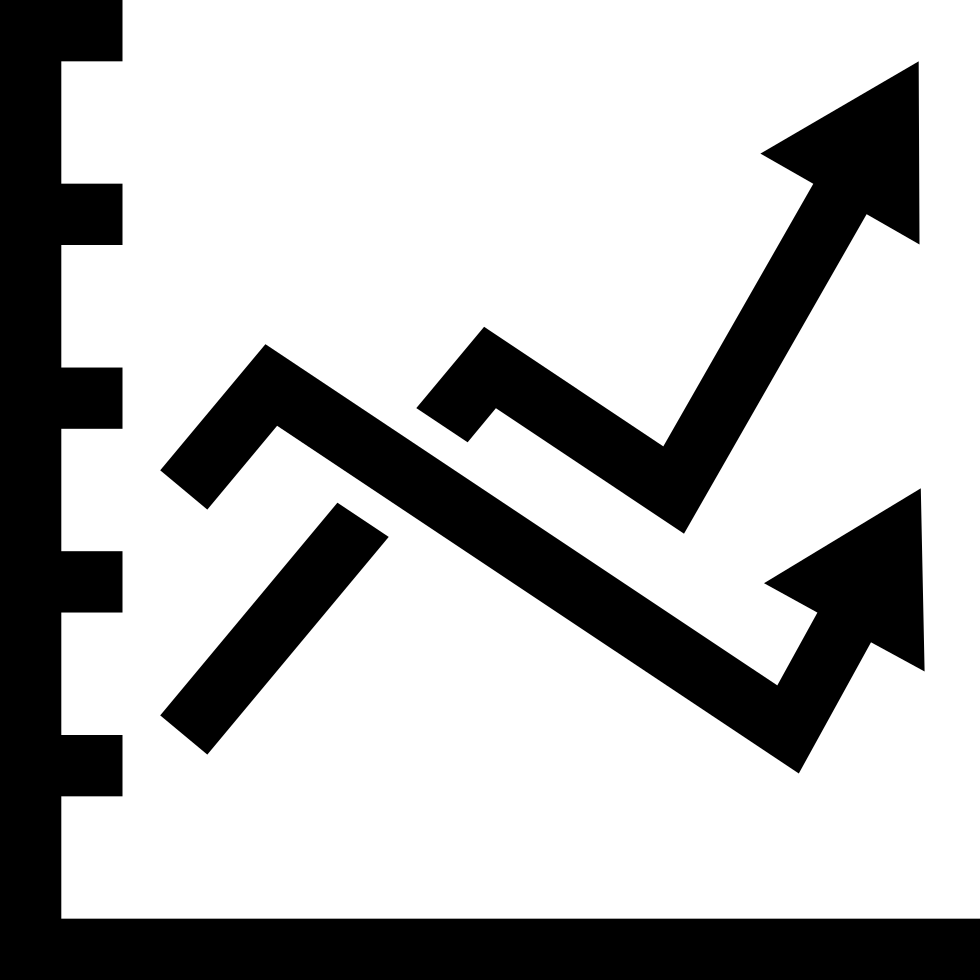Line Graphic With Two Lines