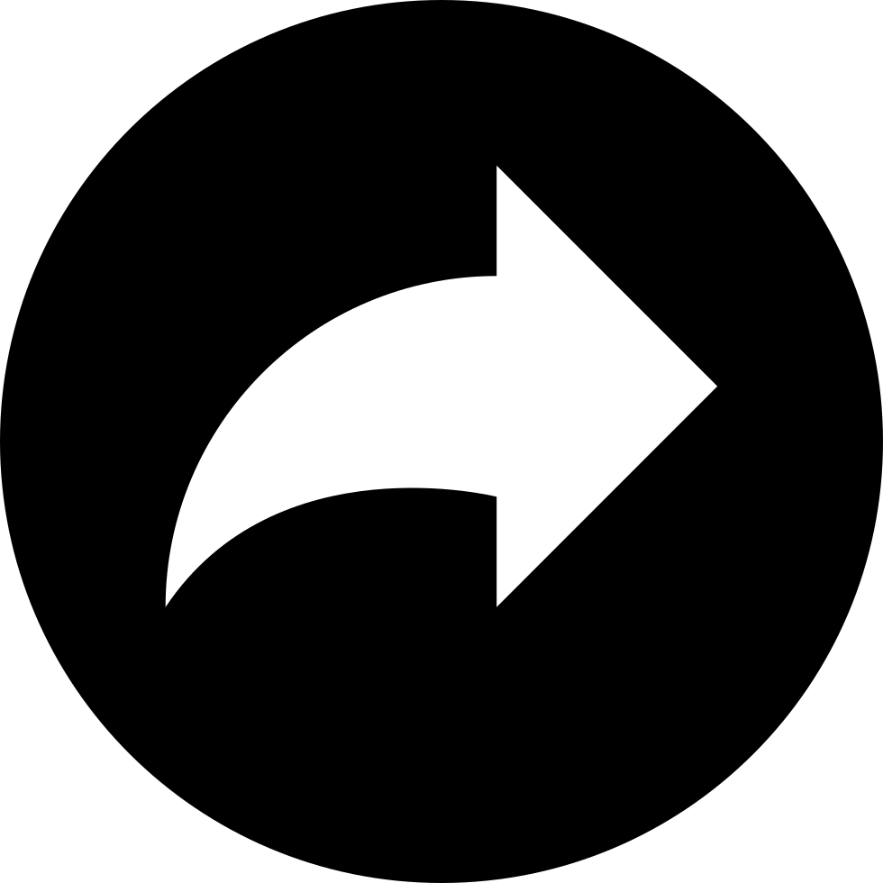 Redo Arrow Button Of Circular Shape
