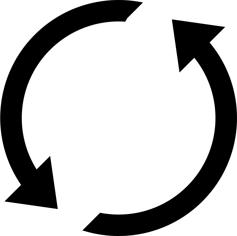 Refresh Two Counterclockwise Circular Arrows Interface Symbol
