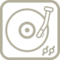 Long Record Player Vintage Tool Outline