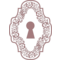 Keyhole In An Ornamented Vertical Symmetrical Shape