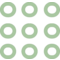 Nine Buttons Of Circles Outlines