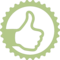 Thumb Up Sign In Circular Badge